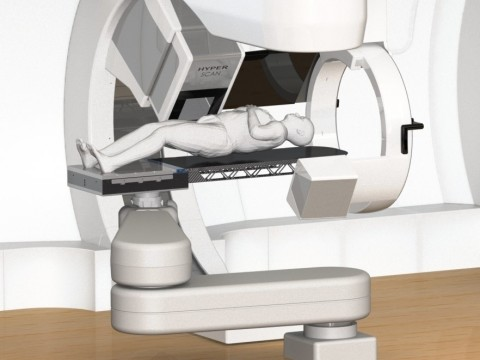 This rendering shows how medPhoton's ImagingRing seamlessly integrates with the MEVION S250 Series. (Photo: Business Wire)