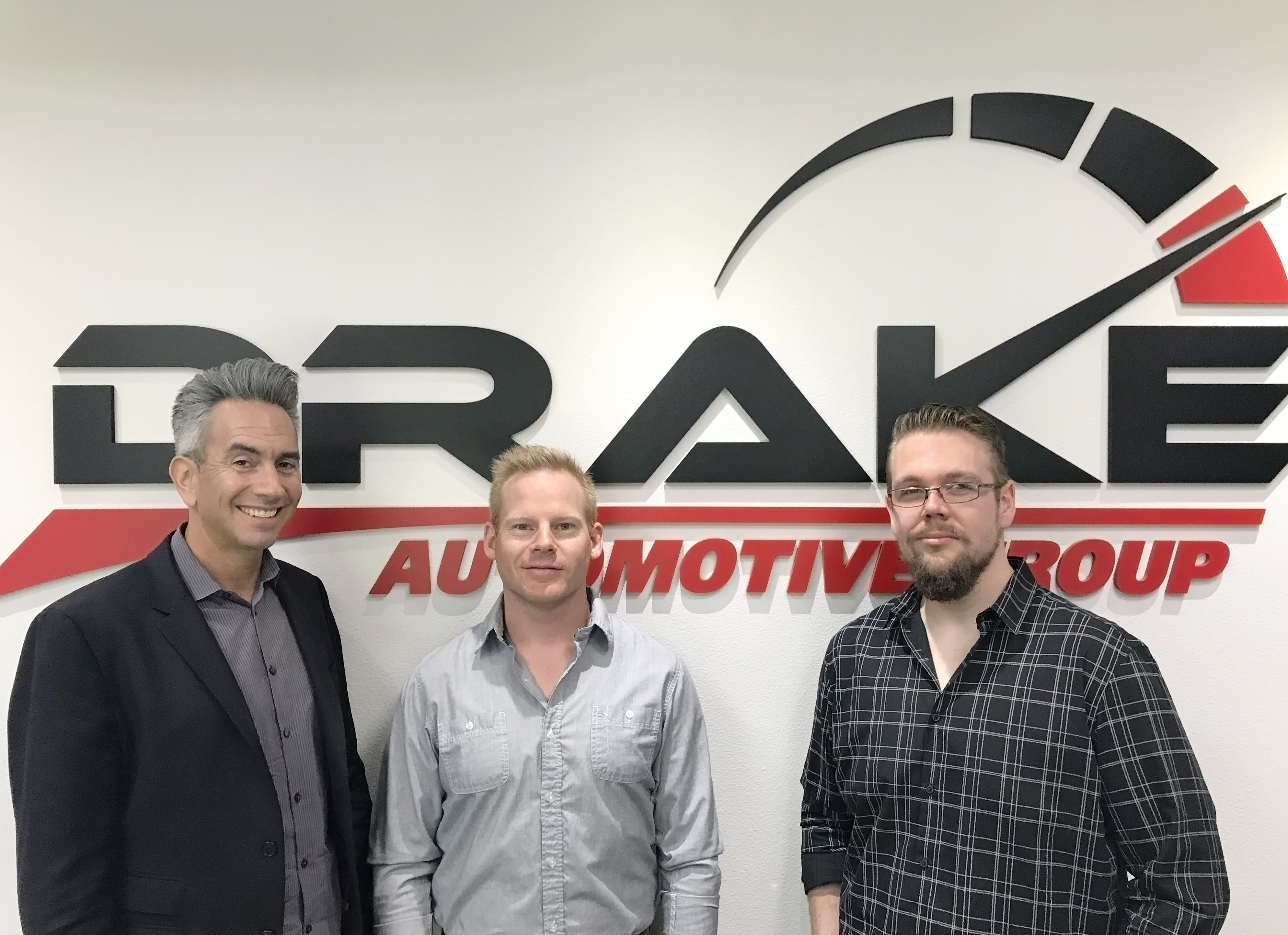 Drake Automotive Group Adds More Muscle with Three Strategic Hires. From left: Gary Schechner, Keith Criswell, Kris Horton (Photo: Business Wire)
