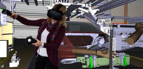 Grâce à NVIDIA VRWorks, les utilisateurs d'ESI IC.IDO peuvent efficacement mener des évaluations immersives avec un HMD depuis leur bureau, avant de conduire des revues dans des CAVEs ou face à des Powerwall (Photo: ESI Group)