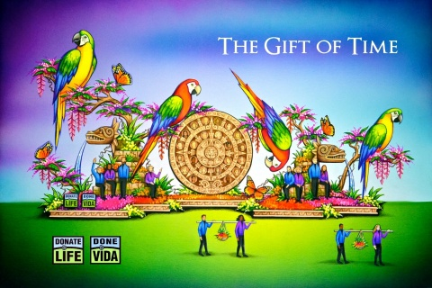 The 2018 Donate Life float at the Tournament of Roses® parade will carry the theme The Gift of Time with the simple, life-giving message that organ, eye and tissue donation saves and heals lives. (Graphic: Business Wire)