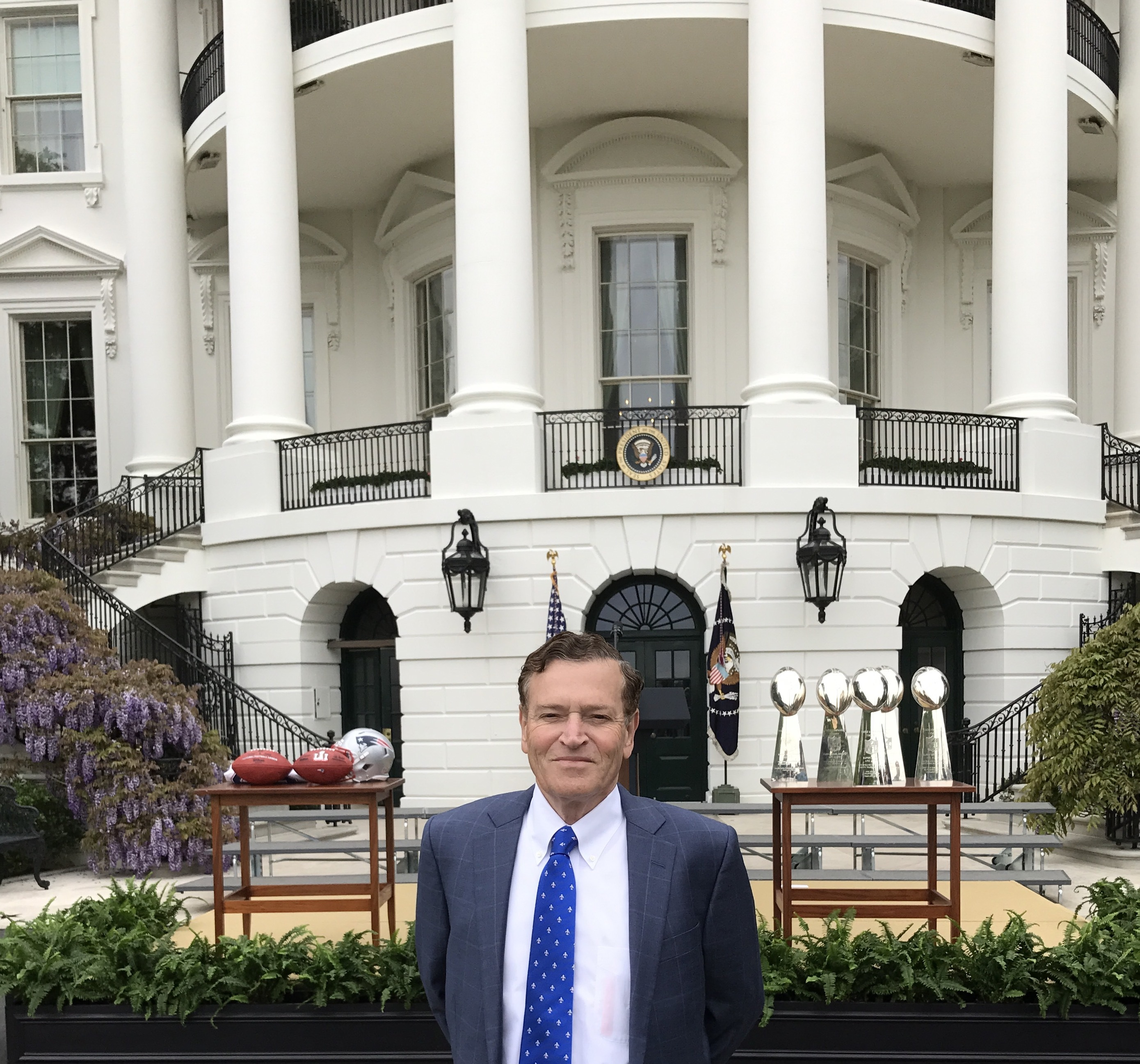 Abode Properties and Pillar Income Asset Management CEO and President, Daniel J. Moos attends Patriots ceremony at the White House on Wednesday, April 19th 2017. (Photo: Business Wire)