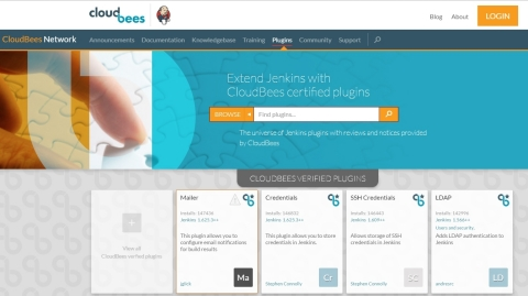 With CloudBees Jenkins Team, you get ready access to verified plugins and core via the CloudBees Assurance Program (Photo: Business Wire)