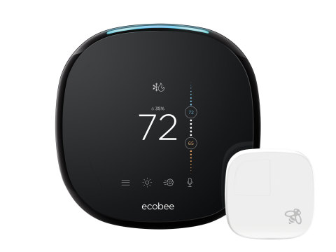 With built in Amazon Alexa Voice Service and far-field voice recognition, ecobee4 combines smart thermostat functionality and voice assistance to help consumers manage their home's comfort, energy and busy lives. (Photo: Business Wire)