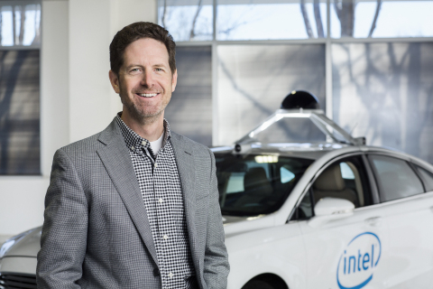 Intel's Doug Davis, senior vice president and general manager of the Automated Driving Group (ADG) at Intel Corporation, speaks to investors and media about Intel's role in the autonomous vehicle market as part of Intel's Investors Day events at the 2016 Intel Developer Forum in San Francisco on Thursday, Aug. 18, 2016. (Credit: Intel Corporation)