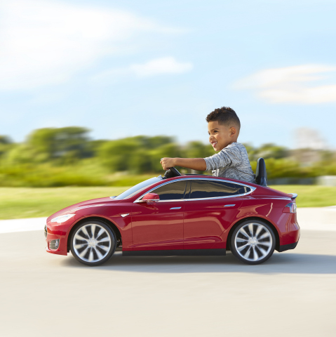 Radio Flyer and C.H. Robinson worked together to bring the Tesla Model S for Kids to families in Europe. (Photo: Business Wire)