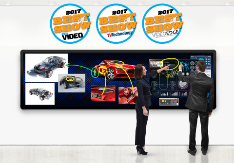 Leyard LED MultiTouch wins three Best of Show awards at NAB 2017 (Photo: Business Wire)
