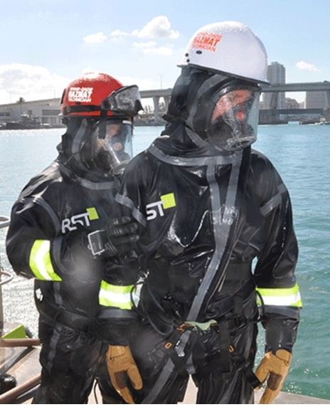 MDFR during CBRN exercise at PortMiami wearing Demron ICE (Photo: Business Wire)