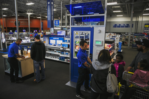 Best Buy and Vivint Smart Home are partnering to give customers an easy way to automate and manage their homes. With a nationwide rollout beginning this summer, Best Buy customers will be able to visit one of more than 400 stores to interact with Vivint products, and consult with a smart home expert for design and installation. (Photo: Best Buy)