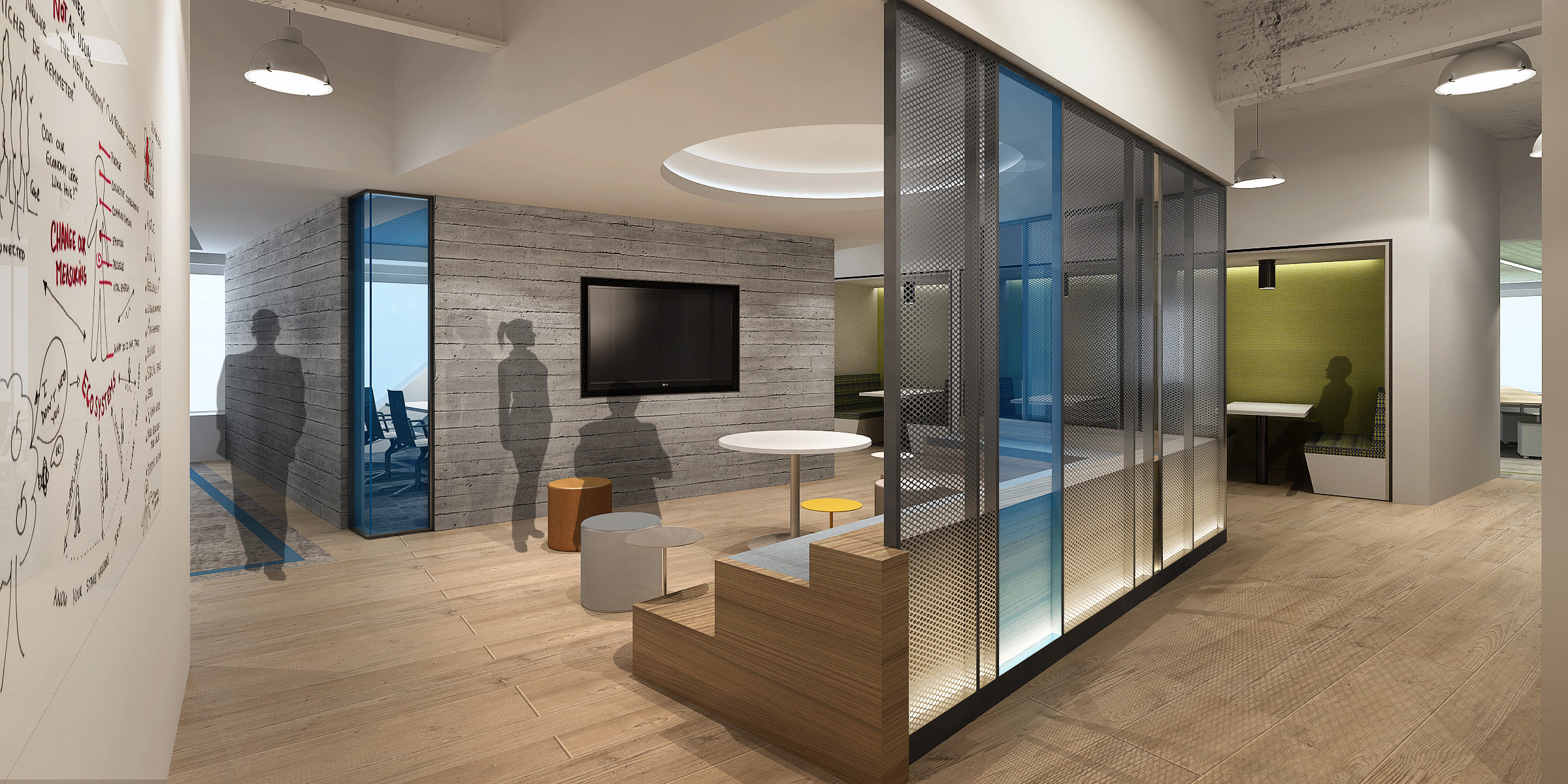 m moser architects pllc creates a new agile workplace of the future for blackstone s innovations. Black Bedroom Furniture Sets. Home Design Ideas