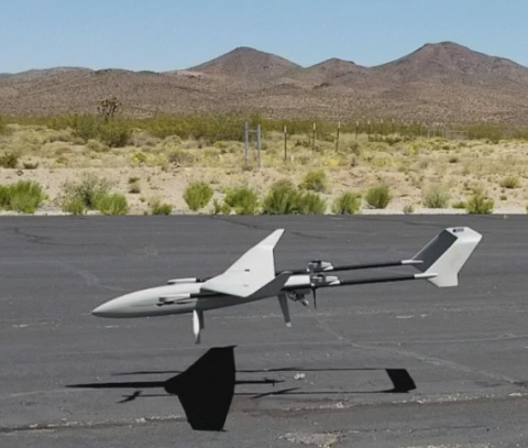 Valmie's new commercial base unit from ALTI UAS lifts off on its maiden flight.  The UAV will be on display at the upcoming XPONENTIAL 2017 in Dallas next week. (Photo: Business Wire)