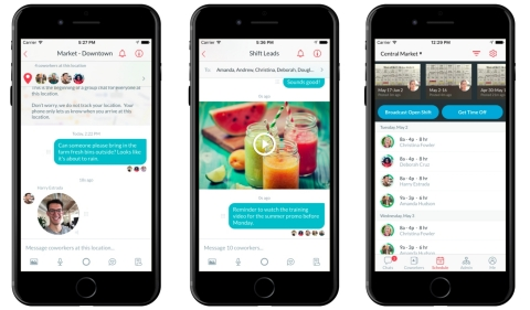 Crew keeps teams on the same page by centralizing work communication in one simple-to-use app. (Photo: Business Wire)