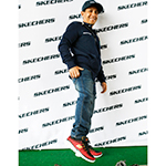 Triple Crown-winner Victor Espinoza in pre-race comfort with Skechers (Photo: Business Wire)