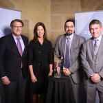 Left to right: Sig Huber, Director, Supplier Relations and Risk Management, FCA - Global ; Susan Ulrey, Tenneco Vice President FCA customer business unit; Fernando Ronderos, Tenneco supplier diversity manager; Scott Thiele, Chief Purchasing Officer, FCA - Global. (Photo: Business Wire)