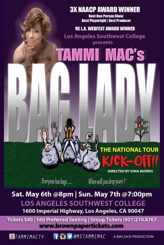 "AHF Sponsors Los Angeles Kickoff for National Tour of Tammi Mac's Award-Winning One-Woman Play ""Bag Lady"" (Graphic: Business Wire)"