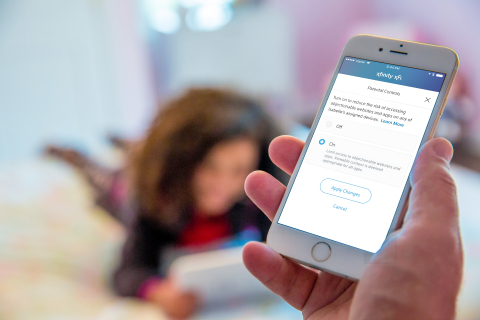 Comcast has launched Xfinity xFi, a new and personalized Wi-Fi experience that provides a simple digital dashboard for customers to manage their home Wi-Fi network. xFi comes packaged with easy-to-use parental controls to block inappropriate content and set bedtime limits for kids. (Photo: Business Wire)