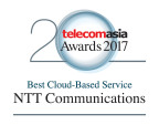 Telecom Asia Awards2017 Best Cloud-Based Service Logo (Graphic: Business Wire)