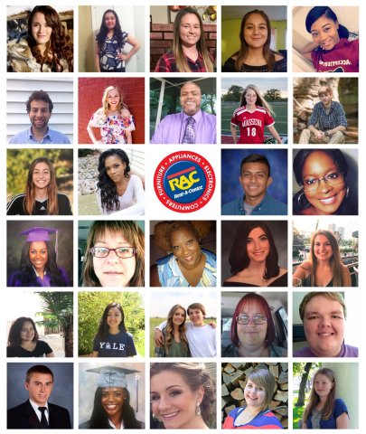Some of Rent-A-Center's Make-A-Difference Scholarship Recipients 2017 (Photo: Business Wire)