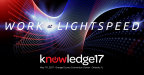 ServiceNow hosts 15,000 attendees this week at its annual customer conference, Knowledge17 in Orlando, Fla., to showcase the future of how IT, Customer Service, HR and Security will work smarter and faster to get work done at light speed. (Graphic: Business Wire)