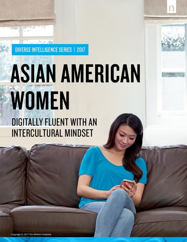 """Front cover of """"Asian American Women: Digitally Fluent with an Intercultural Mindset,"""" Nielsen's fifth report on Asian American consumers. (Photo: Business Wire)"""