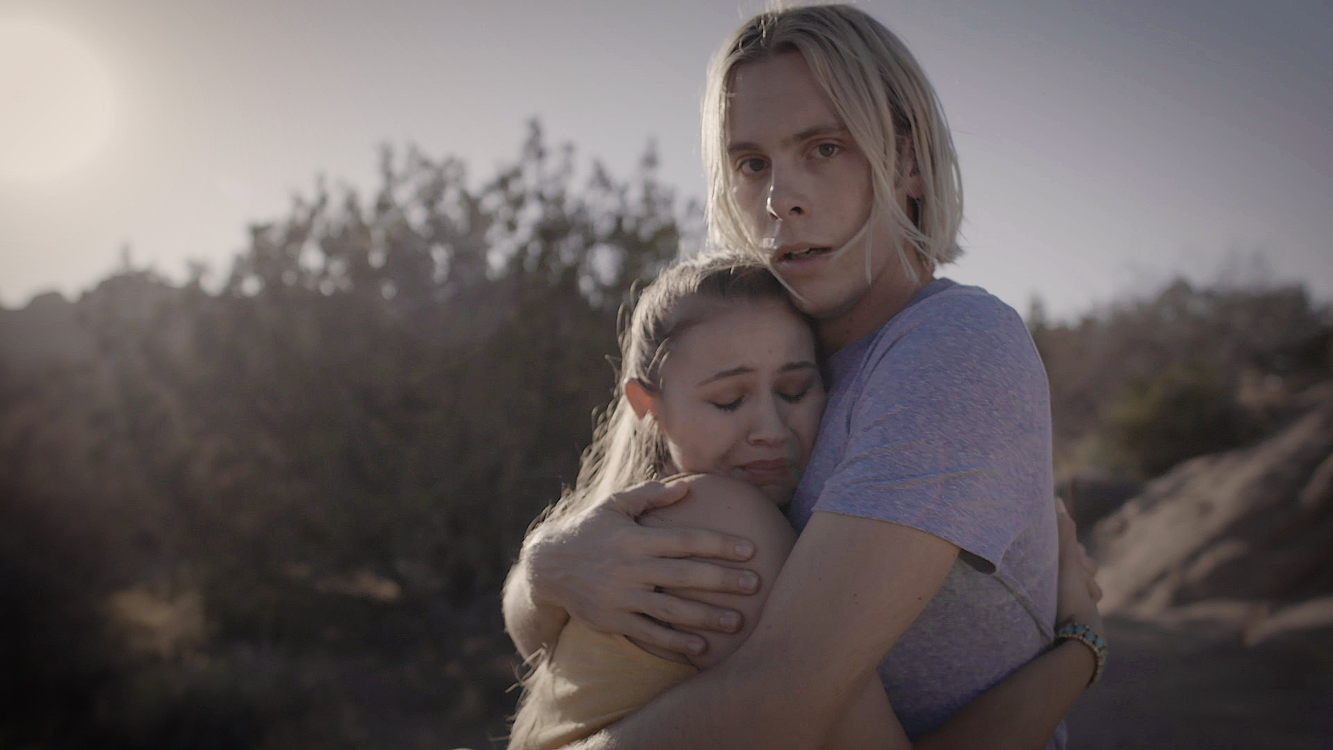 """The suspense film """"Voyeur,"""" starring R5's Riker Lynch and Ayla Kell, is raising finishing funds with a Kickstarter campaign. The Coachella-themed thriller was filmed last summer in California and is nearing completion, but needs funding for completion of final audio, color, and VFX. (Photo: Business Wire)"""