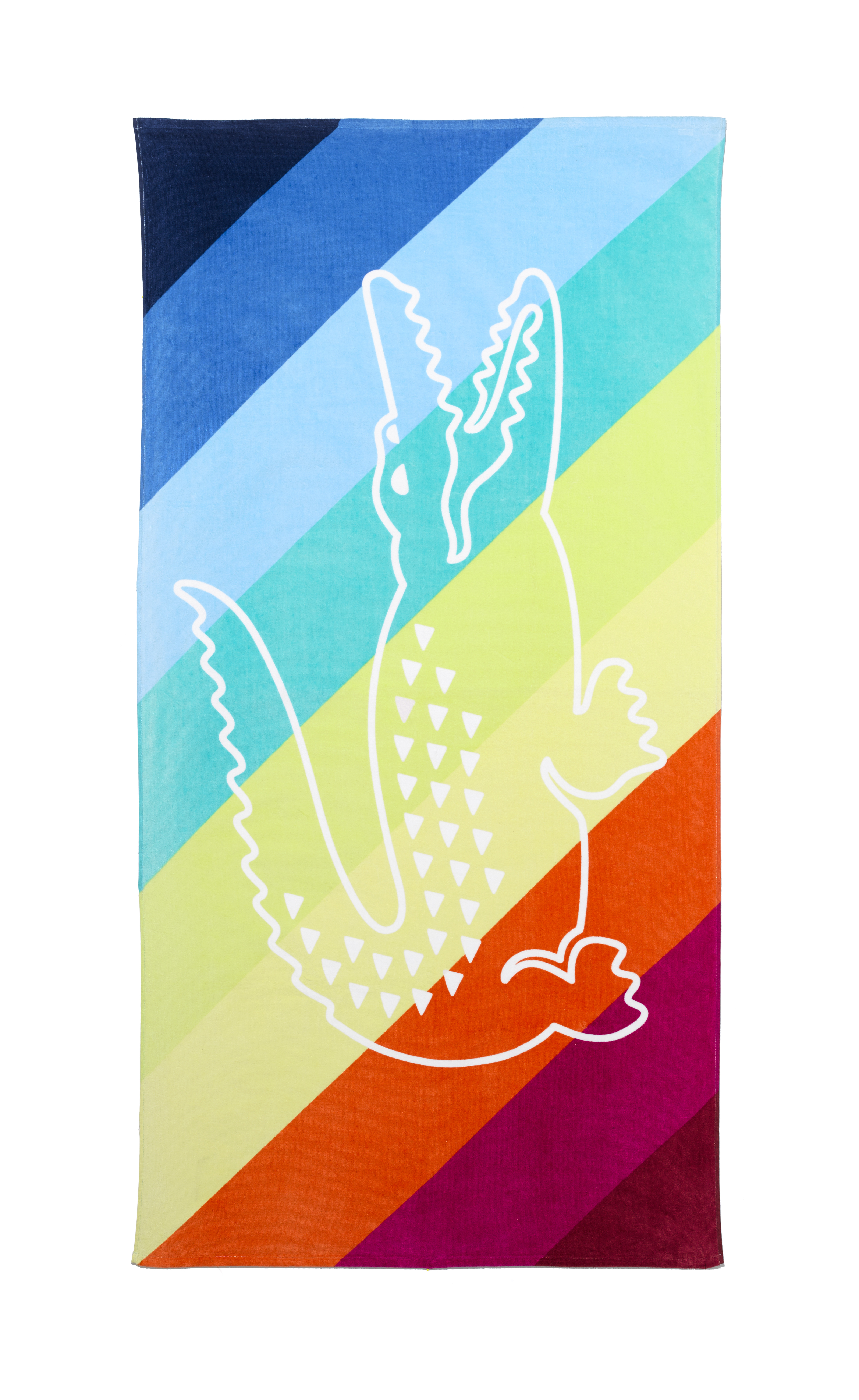 Celebrate summer with fun, eye-catching items from Macy's. Lacoste beach towel, $42. (Photo: Business Wire)