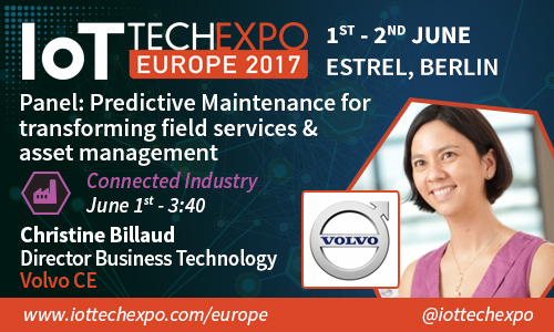Billaud is speaking at the IoT Tech Expo Europe event in Berlin on June 1-2, and wants to focus on the changing face of the construction industry through emerging technologies, focusing on digitalisation - connectivity, analytics, and the IoT - autonomous operations, and electrification. (Photo: Business Wire)