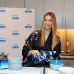Whitney Port, lifestyle expert and mom-to-be, shares one of the many ways to use Dawn dish soap beyond the sink, including cleaning jewelry, at an event in New York,Tuesday, May 9, 2017. (Photo by Diane Bondareff/Invision for Dawn/AP Images)