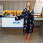 Whitney Port, lifestyle expert and mom-to-be, shares her top home life hacks and the many ways to use Dawn dish soap in the kitchen and beyond,Tuesday, May 9, 2017, at an event in New York. (Photo by Diane Bondareff/Invision for Dawn/AP Images)