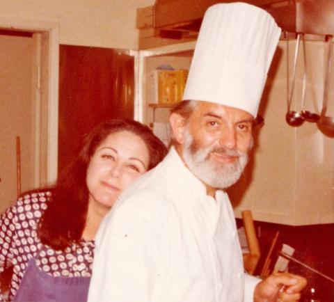 Adrienne with Jean Troisgros Mondavi Kitchen Nov 1976 (Photo: Business Wire)