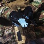 AeroVironment's tiny new Snipe drone can be worn on an operator's uniform for quick access and launched from the palm of their hand. (Photo: Business Wire)