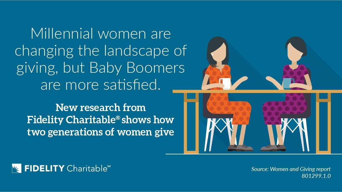 Two generations of women give effectively, but differently (Graphic: Business Wire)