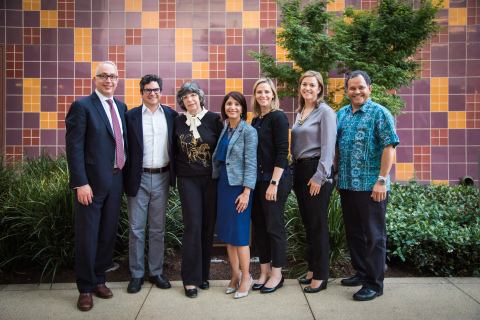 Children's Hospital Los Angeles Health Network Board of Managers (Left to Right): George Weiss, Executive Director, CHLA Health Network; James C. Henry, MD, Board of Managers & Physician, Glendale Pediatrics; Gwen Klyman-Friend, MD, Board of Managers & Physician, Children's Medical Group in Torrance, CA; Bhavana Arora, MD, Medical Director, Children's Hospital Los Angeles Health System; Bethany Stafford, MD, FAAP, Board of Managers & Physician, Agoura-West Valley Pediatrics; Neville Anderson, MD, Board of Managers & President, Larchmont Pediatrics; James H. Flores, Jr., MD, MSEd, Board of Managers & Physician, Peninsula Medical Group (Photo by: Children's Hospital Los Angeles)