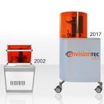 EnvisionTEC將在RAPID + TCT上推出採用客製LED光源的Perfactory 4印表機。最初的Perfactory是一款桌上型3D印表機,正是它推動了DLP技術和EnvisionTEC公司於15年前誕生(照片:美國商業資訊)