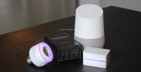 iDevices Socket, Outdoor Switch and Switch with Google Home (Photo: Business Wire)