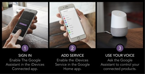 Setting up the Google Assistant with iDevices (Photo: Business Wire)