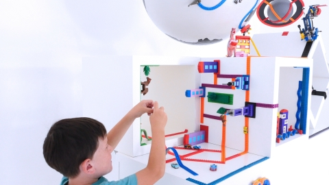 Nimuno Loops instantly transforms virtually any surface into a base for construction toy bricks and figures, and they will be brought to market in collaboration with ZURU's Mayka Tape construction brand. (Photo: Business Wire)