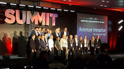 Accenture Interactive receives Adobe Marketing Cloud Partner of the Year Award at Adobe Summit in London (Photo: Business Wire)