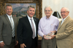 Sensus presents Dickson Electric with award for deploying the 500,000th Stratus meter. (Photo: Business Wire)