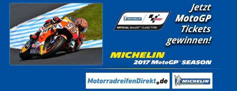 Mit Michelin und MotorradreifenDirekt.de zur MotoGP in Deutschland (Photo: Business Wire)