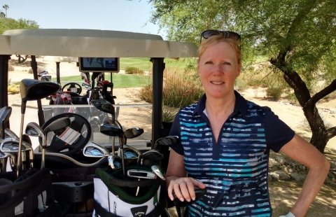 "Kathy Winter, vice president and general manager of the Automated Driving Solutions Division at Intel Corporation, writes: ""Just as you need different clubs to get you through 18 holes of golf, you need different kinds of processors to 'drive' an autonomous car."" (Credit: Intel Corporation)"
