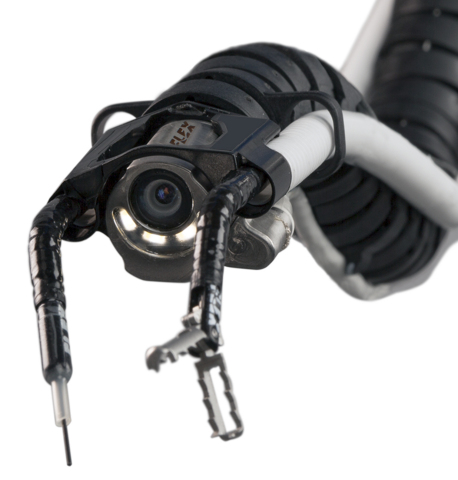 The Flex® Robotic System can operate in hard-to-reach places through a single small entry point. (Photo: Business Wire)