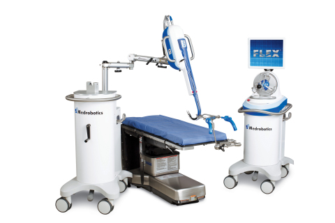The highly mobile Flex® Robotic System can easily be moved from one operating room to another. (Phot ...