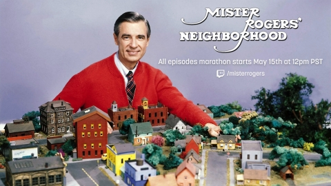 Twitch is streaming a free 18-day, 886-episode marathon of the beloved PBS KIDS series Mister Rogers' Neighborhood on May 15th. There is also a fundraising component for PBS. (Photo: Business Wire)