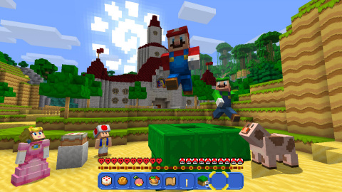 Several fan-favorite add-on packs, including the Super Mario Mash-Up pack, are included in the Minecraft: Nintendo Switch Edition game, available at 6 p.m. PT on May 11 in Nintendo eShop. (Photo: Business Wire)