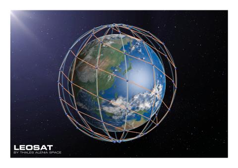 LeoSat Datennetzwerkaufbau (Photo: Business Wire)