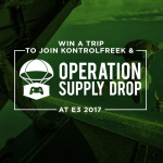KontrolFreek® and Operation Supply Drop (OSD) are taking some lucky fans and a veteran to E3 2017. From now through May 31, fans who make a purchase at KontrolFreek.com will have the ability to donate to OSD, a military charity and support organization for veterans and active duty military personnel. Every fan who donates will be entered into a sweepstakes to win an all-expenses-paid trip to Los Angeles to attend E3 (June 14-16), which will highlight the year's biggest video game releases for PlayStation, Xbox, Nintendo and PC gaming systems. (Graphic: Business Wire)