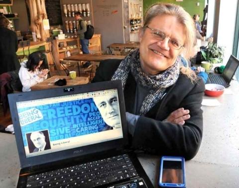 Wojtek Wacowski of Being Liberal (courtesy Mara Lavitt/New Haven Register)