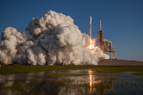The successful launch of SES-10 on SpaceX's first ever mission using a flight-proven rocket serving  ...