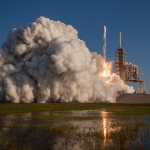 The successful launch of SES-10 on SpaceX's first ever mission using a flight-proven rocket serving Latin America for direct-to-home broadcasting as well as enterprise and mobility services- Credit: SpaceX