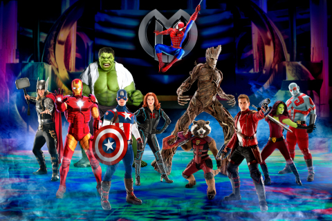 The Avengers, Spider-Man and Guardians of the Galaxy unite in Marvel Universe LIVE! Age of Heroes, premiering on Friday, July 7, 2017 at STAPLES Center in Los Angeles. (Photo: Business Wire)